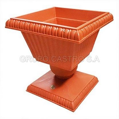 Foto de Maceta Pedestal Cuadrada #2 terracota 34x34x41alt cms