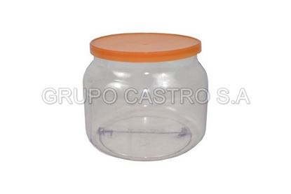 Foto de ENVASE PVC BOMBERITO C/TAPA PINTA 9altx11an (0.66ml)  7073261000