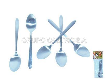 Foto de Cucharita Set 6 pcs Stainless steel Acero CasaBella Ref.YDM011-009