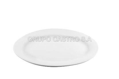 "Foto de Plato porcelana ovalado blanco 11"" (28.8cms) ON18 R447-359"