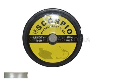 Foto de Hilo nylon p/pescar 1.1mm 100m scft-11 140lb scorpio