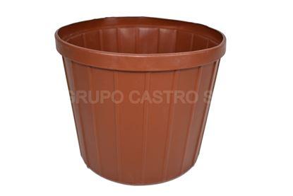 Foto de MACETA #7 TERRACOTA (400..T) SALVAPLASTIC 16alt x 18anCMS7386032400