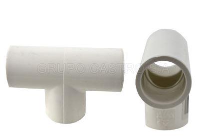 Foto de Tee 1/2 lisa PVC  PH-STC012-SCH40/FA0301/bk-1260/MT0048