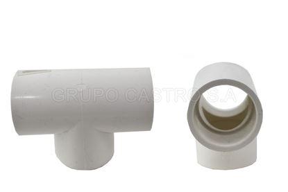 """Foto de TEE PVC 1"""" PH-STC100-SCH40/FA0303 ref.TL025P"""