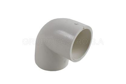 "Foto de CODO PVC 1"" PH-UGC100-SCH40/FA0903/CL025P 90°"