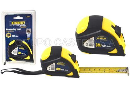 Foto de Cinta metrica 3mtrs 16mm t-36002 industrial kennedy bilster acero carbon40%