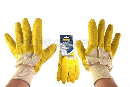 Foto de Guante industrial latex amarillo t-45022 kennedy 10 xl