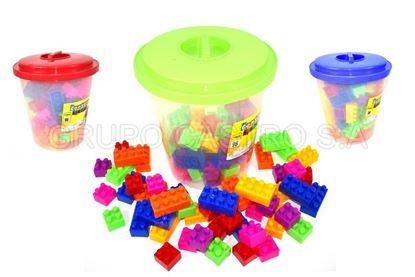 Foto de SUPER CUBETA 96 PZS JUMBO BLOCK 26103 LEGOS TACOPLAST