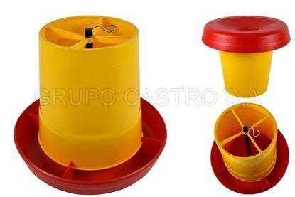 Foto de Comedero antidesperdicio 12kilos amarillo estra 4-1009718 22ANX31AL P;0.79 kg