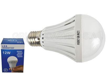 Foto de BOMBILLO LED 12W 85-265V RECARGABLE EMERGENCY LIGHT
