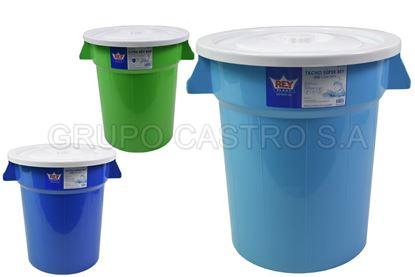 azul 240 litros Cubo para la recogida diferenciada TLDSHOP/® Varios colores Equipado con ruedas y tapa