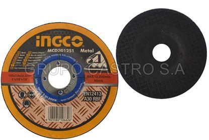 Foto de DISCO METAL CORTE GRUESO 4-1/2X1/8X7/8' MCD301151 INGCO