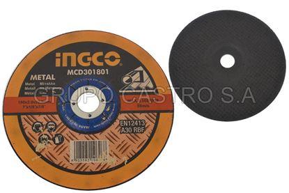 Foto de DISCO METAL CORTE GRUESO 7X1/8X7/8' MCD301801 INGCO