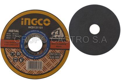 "Foto de Disco metal corte fino 4 1/2""x3/64""x7/8"" Ingco"