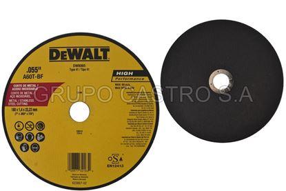 "Foto de DISCO METAL CORTE FINO7X055X7.8""  DEWALT (DW8065A)RPM8.600"