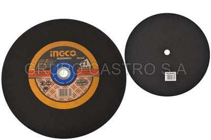 """Foto de Disco metal corte fino 16""""x1/8""""x1"""" ingco MCD304051(405x3.0x25.4mm) 3800xmin"""