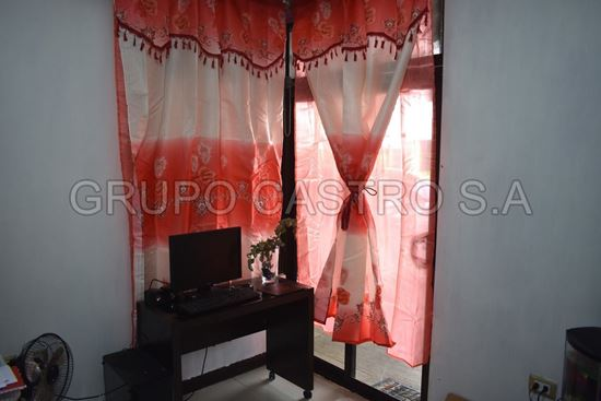 Foto de Cortina ventana BA-629 scarlet clasics 2 pcs paños doble cenefa y borlascolor coral/beige