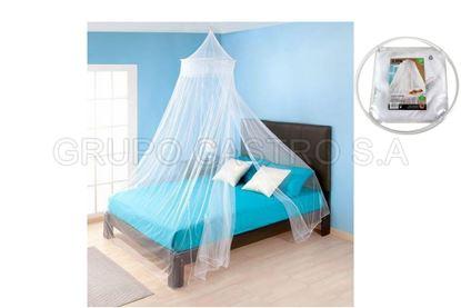 Foto de Toldo mosquitero matrimonial R02 blanco rueda queen size