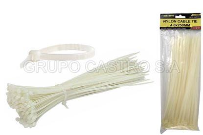"Foto de Set 100  Zuncho BLANCO Plast.10"" (250x4.8mm) DIESEL TOOLS DT150066"