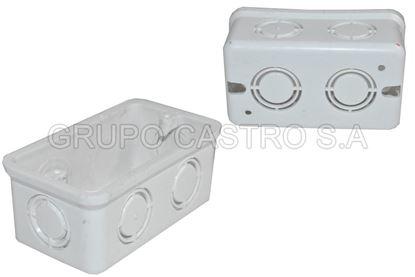 "Foto de Caja electrica rectangular pvc 2x4""bk-1337 UL 45 gms"