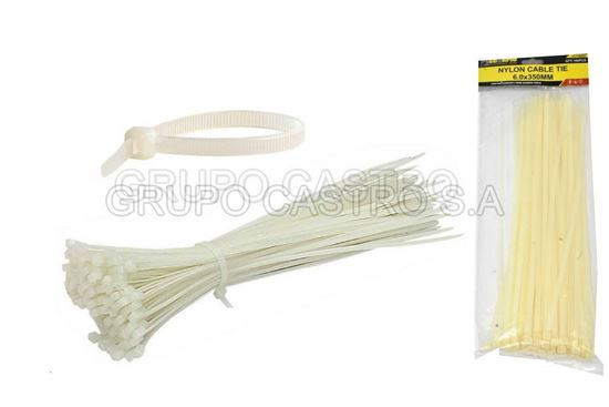 "Foto de Set 100  zuncho blanco plast. 14"" (6.0X350MM) scorpio vc150066"