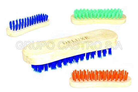 Foto de Cepillo Ovalado BR-008/3-71fibras plasticas duras deluxe 16X4.5cms