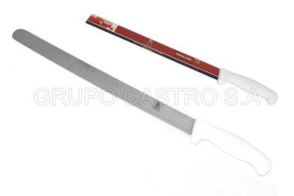 """Foto de Cuchillo 12"""" cacha blanca boning knife BR-1061 punta redonda"""