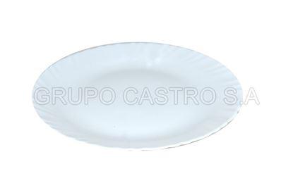 Foto de Plato vidrio semihindo blanco temperado 270mm CFP270PW diva