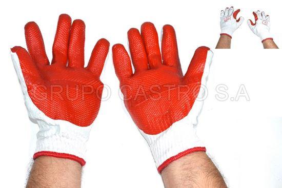 "Foto de Guante industrial latex rojo puño franela10"" GUA4003"