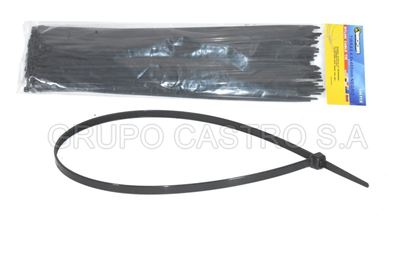 "Foto de Set 100  Zuncho negro Plast. 16""x5mm FE-0934 (PBCT4.8X400mm) BECKER"