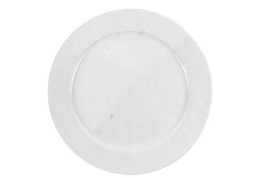 "Foto de Plato porcelana plano grande 12"" blanco H303-173"