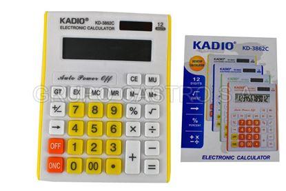 Foto de CALCULADORA KD-3862C KADIO 12 DIGITOS WJT0920 11X15CMS GRANDE