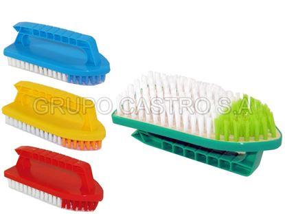 Foto de Cepillo para lavar c/mango YJ-131/11319  planchita