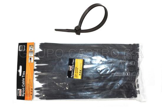 """Foto de Set 100  Zuncho Negro Plast.10"""" (8MMX250MM) PH-190016 MAXI TOOLS"""