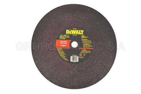 "Foto de DISCO METAL CORTE FINO  14X3/32X1"" DEWALT DW44640 RPM 4.300"