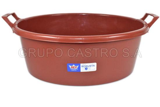 Foto de Tina Batea ovalada robusta #40 28lts Rey criollita clasica BTX009600 54x45x20cms