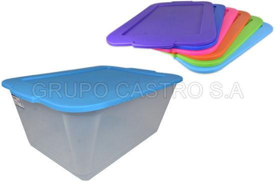 Foto de Caja transparente 37.5ltrs 212 spartaplast 39x57.5x24cms