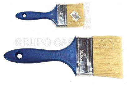 """Foto de Brocha p/pintar 3"""" NS231609 azul pelo amarillo"""