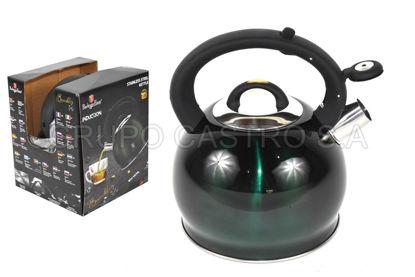 Foto de *SEGUNDA*Cafetera c/pito acero 3 litros BH-1076 burgundy verde disco difusor