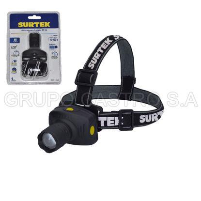 Foto de Foco Linterna 1 LED cabeza minera 136037 60LM 3W 3 baterias AAA