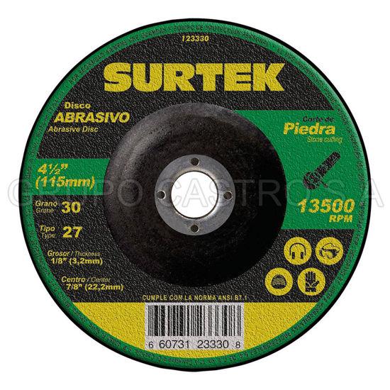 """Foto de Disco concreto corte fino 4-1/2""""x1/8""""x7/8"""" 123330 abrasivo 27  mega pesado surtek"""