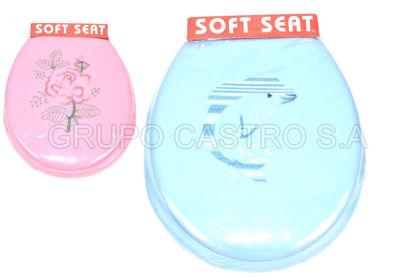 Foto de Asiento Inodoro adulto acolchado decorado surtido colores soft seat KM1965H321-03