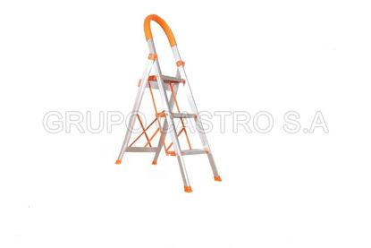 Foto de Escalera aluminio 3 escalones tijereta 1811814 LUXURY HOME 1.25 cms