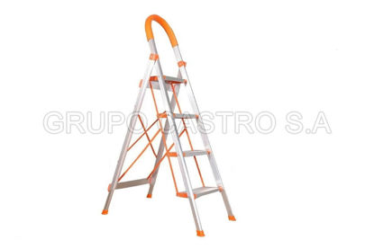 Foto de Escalera aluminio 4 escalones tijereta 1811815 LUXURY HOME 1.50 cms