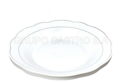 """Foto de Plato Porcelana hondo 9"""" c/borde dorado 9-SOUP-GGK/SM-9SP"""
