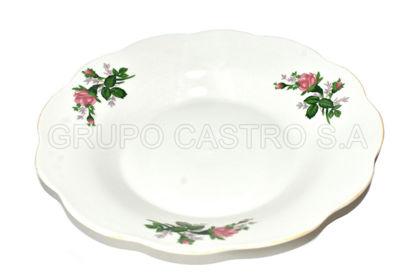 "Foto de Plato porcelana hondo decorado 8"" 8S-/ SOUP-8/8IN-SOUP KM"