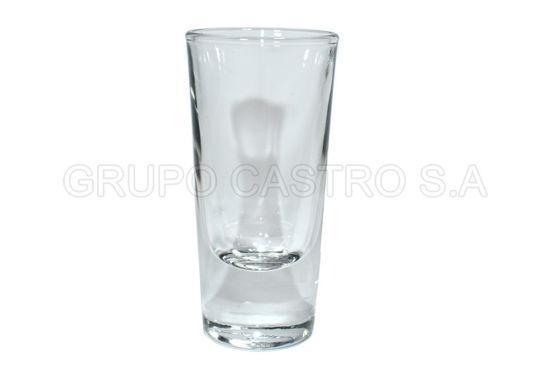 Foto de Copa tequilera vidrio baja 1onz/31ml 64500/0971 7.7x3.6cms