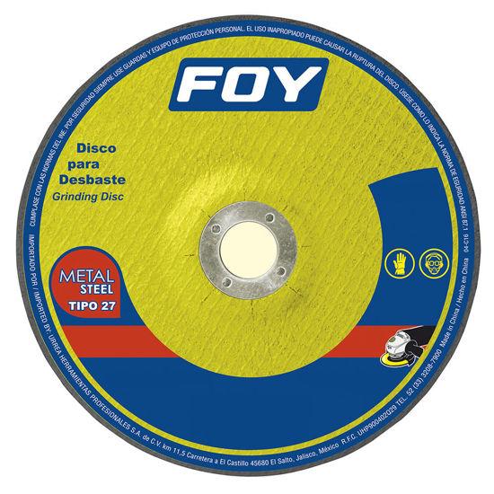 "Foto de Disco metal corte grueso 7""x7/8""x7/8"" 3mm 143525 abrasivo 27 metal 8500 RPM mega pesado foy"