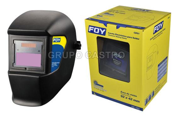 Foto de Mascara soldar careta electronica CSF01 FOY solar y bateria