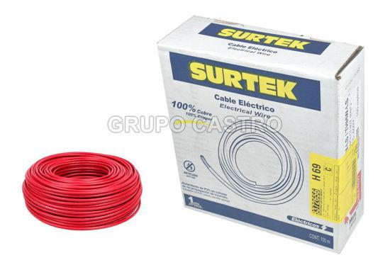 Foto de Cable electrico tipo #12 136919 THW-LS 100mts rojo surtek100% cobre 90*grados